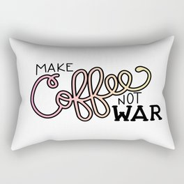 Coffee Not War (Sunset) Rectangular Pillow
