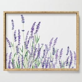 lavender watercolor horizontal Serving Tray