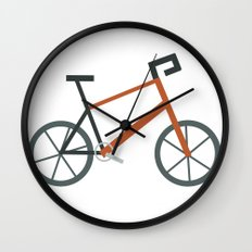 Orange Bike Wall Clock