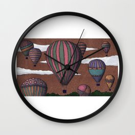 balloon party Wall Clock