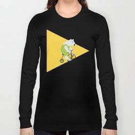 Cycling Polar Bear Triangle Long Sleeve T-shirt