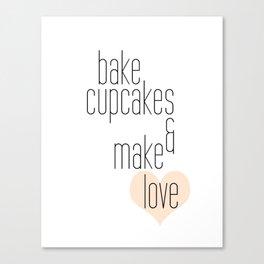 Bake Cupcakes Canvas Print