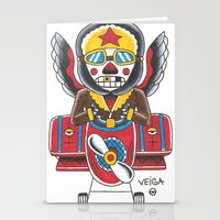 airplane Stationery Cards featuring Airplane by @VEIGATATTOOER