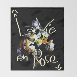 La Vie En Rose Throw Blanket