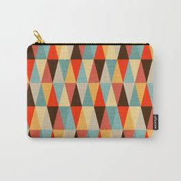 Red & Brown Geometric Triangle Pattern Carry-All Pouch