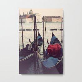 Italian Boat Dock Metal Print