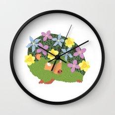 Spring Hedgehog Wall Clock