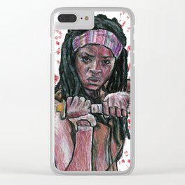 The Walking Dead's Michonne Clear iPhone Case