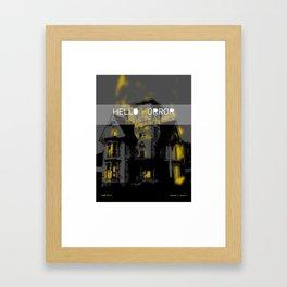 HelloHorror Issue 3 Cover - Haunted House Framed Art Print