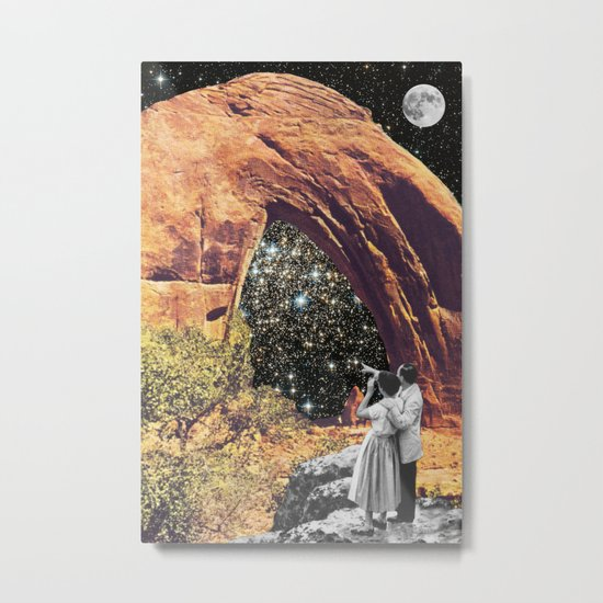 Whole Life through a Keyhole Metal Print