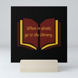 The Library at Nighttime Mini Art Print
