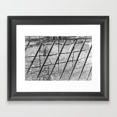 Shades of Fence Framed Art Print