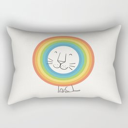 A Happy Lion Rectangular Pillow
