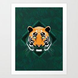 Tiger's day Art Print