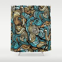 vertigo Shower Curtains featuring Vertigo by James Ordell
