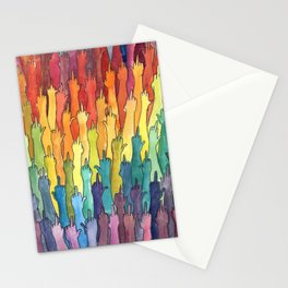 fuck-off in rainbow power Stationery Cards