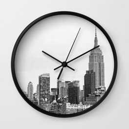 The New York Cityscape City (Black and White) Wall Clock