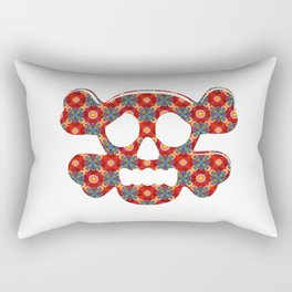 Colorful human skull Rectangular Pillow
