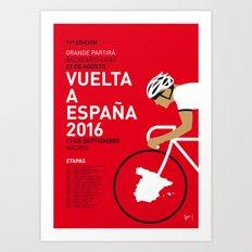 MY VUELTA A ESPANA MINIMAL POSTER 2016 Art Print