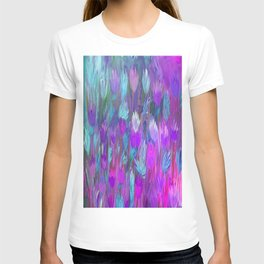 Field of Flowers in Purple, Blue and Pink T-shirt