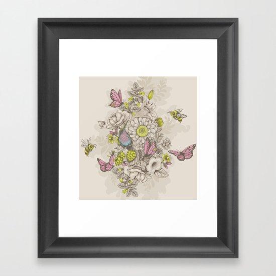 Beauty (eye of the beholder) - cream version Framed Art Print