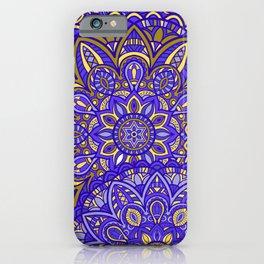 Yellow & Blue Mandala iPhone Case