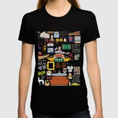 Collage MEDIUM Black Womens Fitted Tee