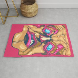 Mad Ugly Monster Face Rug