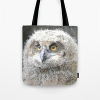 swedish Tote Bags featuring Swedish owl by ilsephilips
