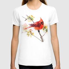 Cardinal Bird in Spring T-shirt