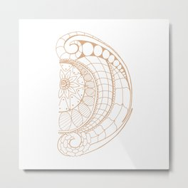 Fancy D Metal Print