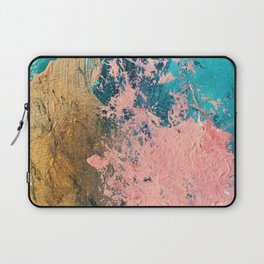 Coral Reef [1]: colorful abstract in blue, teal, gold, and pink Laptop Sleeve
