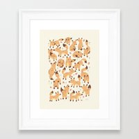 foxes Framed Art Prints featuring Foxes by Greg Abbott