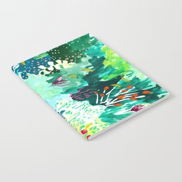 Twice Last Wednesday: Abstract Jungle Botanical Painting Notebook