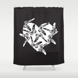 Wild and Rare Love Shower Curtain