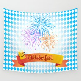 Happy Oktoberfest Festival Decoration Gifts and Presents Wall Tapestry