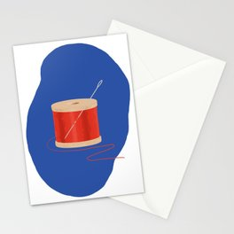 Thread and Needle Stationery Cards