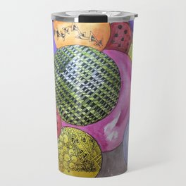 Zentangle Bubbles Travel Mug