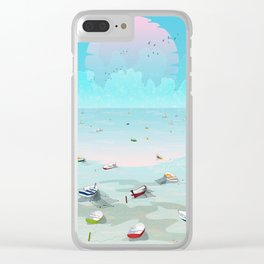 Between two waters Clear iPhone Case