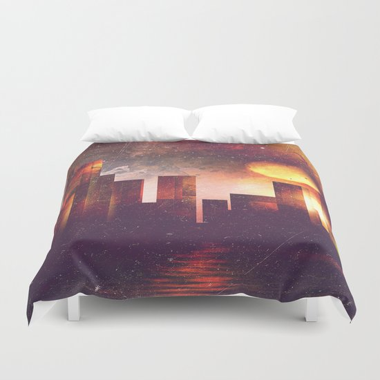Good night Manhattan Duvet Cover
