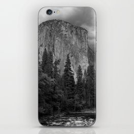 Yosemite National Park, El Capitan, Black and White Photography, Outdoors, Landscape, National Parks iPhone Skin