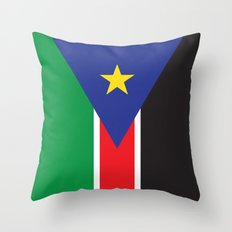 South Sudan Throw Pillow