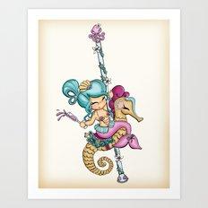 Saucy Sea Horse Art Print