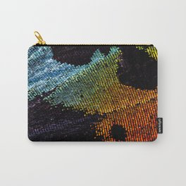 Vibrant Iridescence of The Madagascan Sunset Moth Carry-All Pouch