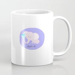 Purple elephant Coffee Mug