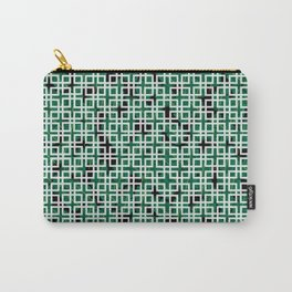 Square Leaves Carry-All Pouch