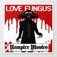 movies Canvas Prints featuring Vampire Movies by Mat McIvor