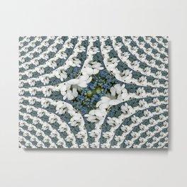 Hydrangeas - White & Blue Floral Metal Print