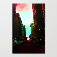 detroit Canvas Prints featuring Detroit by Casalmon
