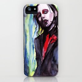 MaNsinthe, portrait of M.M. made by Ines Zgonc iPhone Case